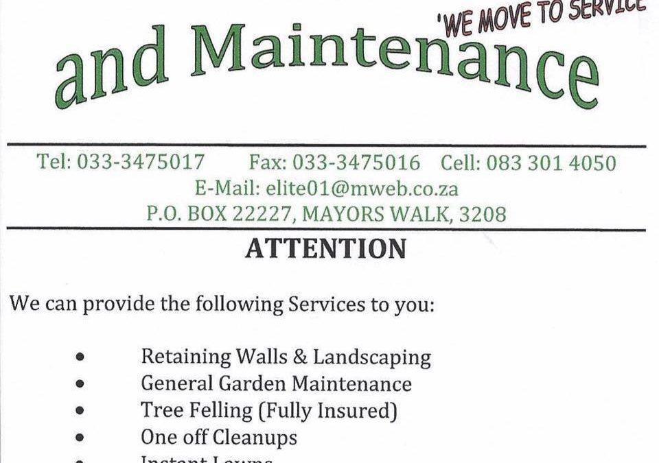 Landscaping & Maintenance   Elite Garden Service Pietermaritzburg